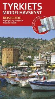 rejseguide med kort - tyrkiets middelhavskyst - bog