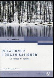 relationer i organisationer - Lydbog
