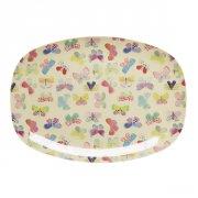 rice melamin tallerken - sommerfugle/beige - Babyudstyr