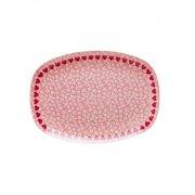 rice melamin tallerken - hjerter/rød - Babyudstyr