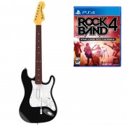 rock band 4 - wireless fender stratocaster guitar controller and software bund - PS4