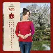 rød en strikkerejse til japan - bog