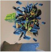 roommates wallstickers ninja turtles - kæmpe wallsticker - Til Boligen