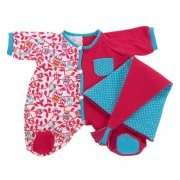 rubens baby tilbehør - rød pyjamas - Dukker