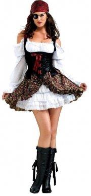 pirat kostume kvinde - til voksne - x-small - Udklædning Til Voksne