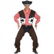 cowboy kostume / udklædning - medium - rubies adult - Udklædning Til Voksne