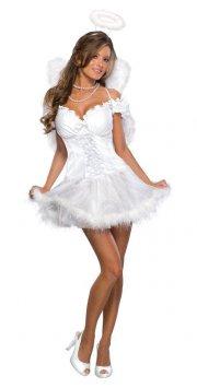engle kostume til voksne - medium - Udklædning Til Voksne