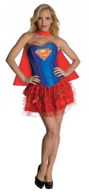 supergirl kostume til voksne - korset kjole - small - Udklædning Til Voksne