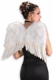 englevinger kostume - hvide fjer englevinger - Udklædning Til Voksne