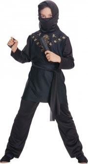 rubies ninja kostume / black ninja - large - Udklædning