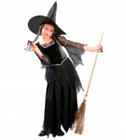 hekse kostume til børn - medium 116 cm - rubies - Udklædning