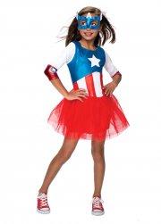 rubies captain america girl - 132 cm - Udklædning