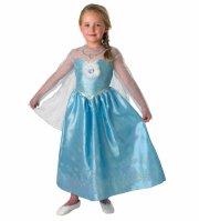 rubies elsa kostume / elsa kjole - large - 128 cm 7-8 år - Udklædning