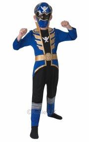 power rangers kostume - blå - 7-8 år - rubies - Udklædning