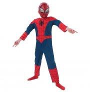 spiderman kostume til børn - inkl. maske og muskler - large - rubies - Udklædning