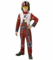 star wars kostume - xwing fighter pilot 7-8 år - rubies - Udklædning