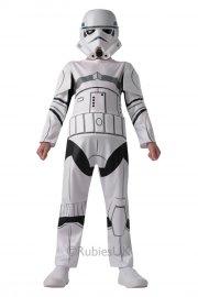 stormtrooper kostume / udklædning - 7-8 år - rubies - Udklædning