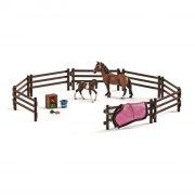 schleich - en verden af heste - paddock legesæt - Figurer
