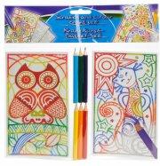 scratch and colour craft set - Kreativitet