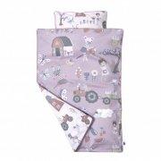 sebra sengetøj / sengesæt - 140x100 cm - farm - rosa - Babyudstyr