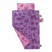 sebra sengetøj / juniorsengetøj - forest - lyserød - Babyudstyr