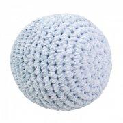 sebra hæklet bold til baby - 12 cm - blå - Diverse