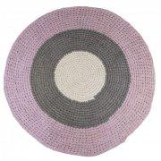 sebra hæklet gulvtæppe - rosa/grå, pige (4003203) - Til Boligen