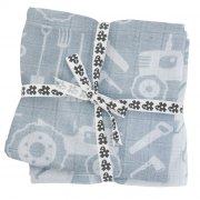 sebra stofbleer / stof bleer - 4-pack - blå - farm - Babyudstyr