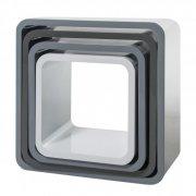 sebra - hylder / bogkasser - 4 stk - grå - Til Boligen