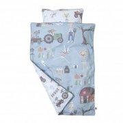 sengetøj - sebra - voksen - blå/farm - Babyudstyr