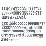 sebra bogstaver til dør - wallsticker - 158 stk - grå - Til Boligen