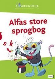 skrivevejen, alfabøgerne, alfas store sprogbog - bog