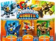 skylanders giants - triple pack w2/w4 - sprocket, sonic boom, stump smash - Skylanders