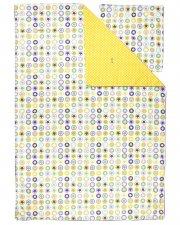 smallstuff sengetøj / sengesæt - voksen - gul med stjerner og cirkler - 140 x 200 cm - Til Boligen