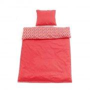 smallstuff baby sengetøj med blomster - rød - 70 x 100 cm - Til Boligen