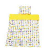 smallstuff baby sengetøj med stjerner - gul - 70 x 100 cm - Til Boligen