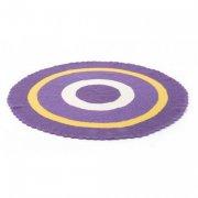 smallstuff hæklet rundt tæppe til børneværelse - lilla - Til Boligen