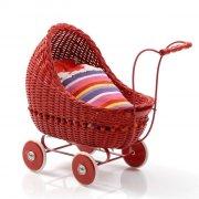 smallstuff dukkevogn / dukkeklapvogn - rød - Dukker