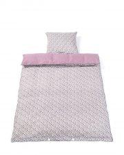 junior sengetøj - smallstuff - 140 x 100 cm - økologisk bomuld - sommerfugle/mørkerosa - Til Boligen