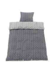 smallstuff junior sengetøj - 100 x 140 cm - økologisk bomuld - grå - Til Boligen
