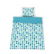 smallstuff junior sengetøj - cirkler og stjerner - petroleum - 100 x 140 cm - Til Boligen