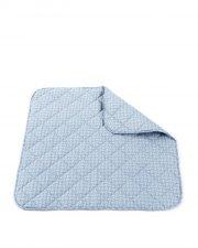 smallstuff legetæppe til baby - 100% økologisk bomuld - lyseblå - Babylegetøj