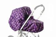 smallstuff regnslag til barnevogn - purple daisy - Babyudstyr