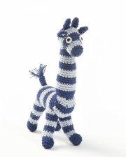 smallstuff hæklet bamse / hæklet giraf - blå - Bamser