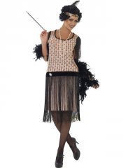 smiffys - 1920's coco flapper costume - small (28820s) - Udklædning Til Voksne