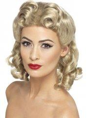 smiffys - 40's sweetheart wig blonde (26230) - Udklædning Til Voksne