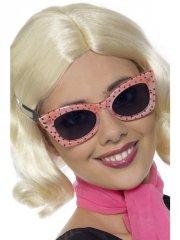 smiffys - 50s style polkadot specs (31146) - Udklædning Til Voksne
