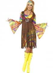 smiffys - groovy lady dress - x-large (35531x1) - Udklædning Til Voksne