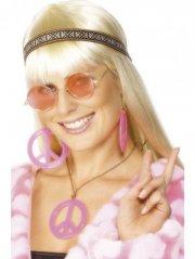 smiffys - hippie kit pink (28359) - Udklædning Til Voksne