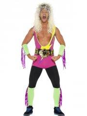 smiffys - retro wrestler costume - medium (27561m) - Udklædning Til Voksne